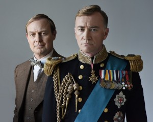 Jason Donovan (Lionel Logue), Raymond Coulthard (King George VI) Picture by Hugo Glendinning